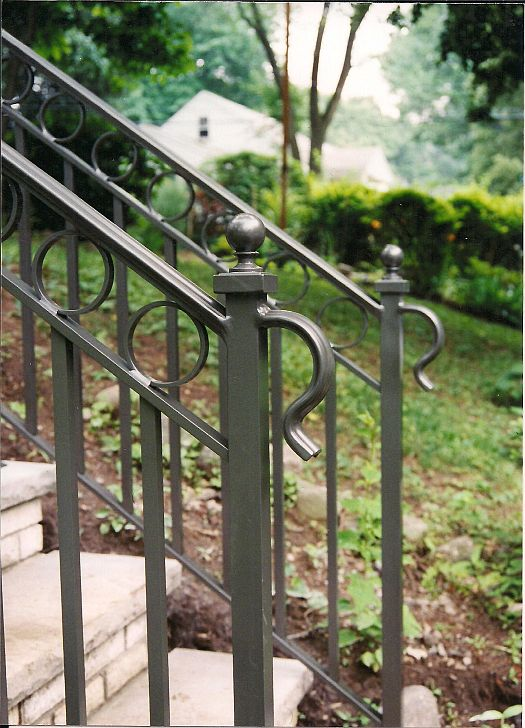 Exterior rails - Exterior wrought iron handrails for steps ...